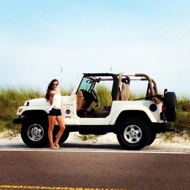 Girls with their jeeps
