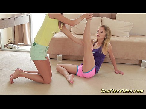 Girls stretching out naked