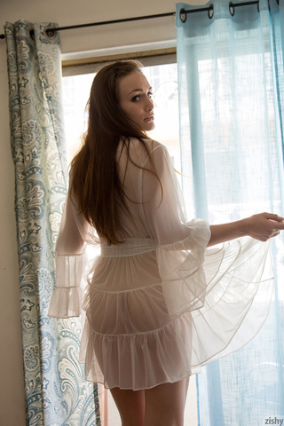 Teen pussy sheer nightgown