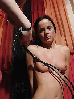 Teen tit whipping